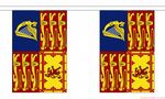 ROYAL STANDARD UK BUNTING - 3 METRES 10 FLAGS